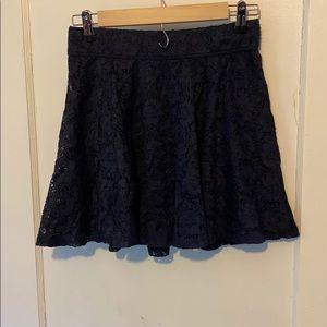 Hollister lace navy mini skirt flowy